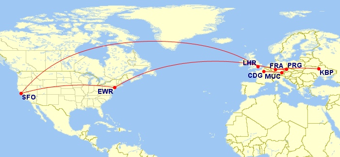 "Return leg: ""free"" stops in Prague, Munich, Paris, and London"