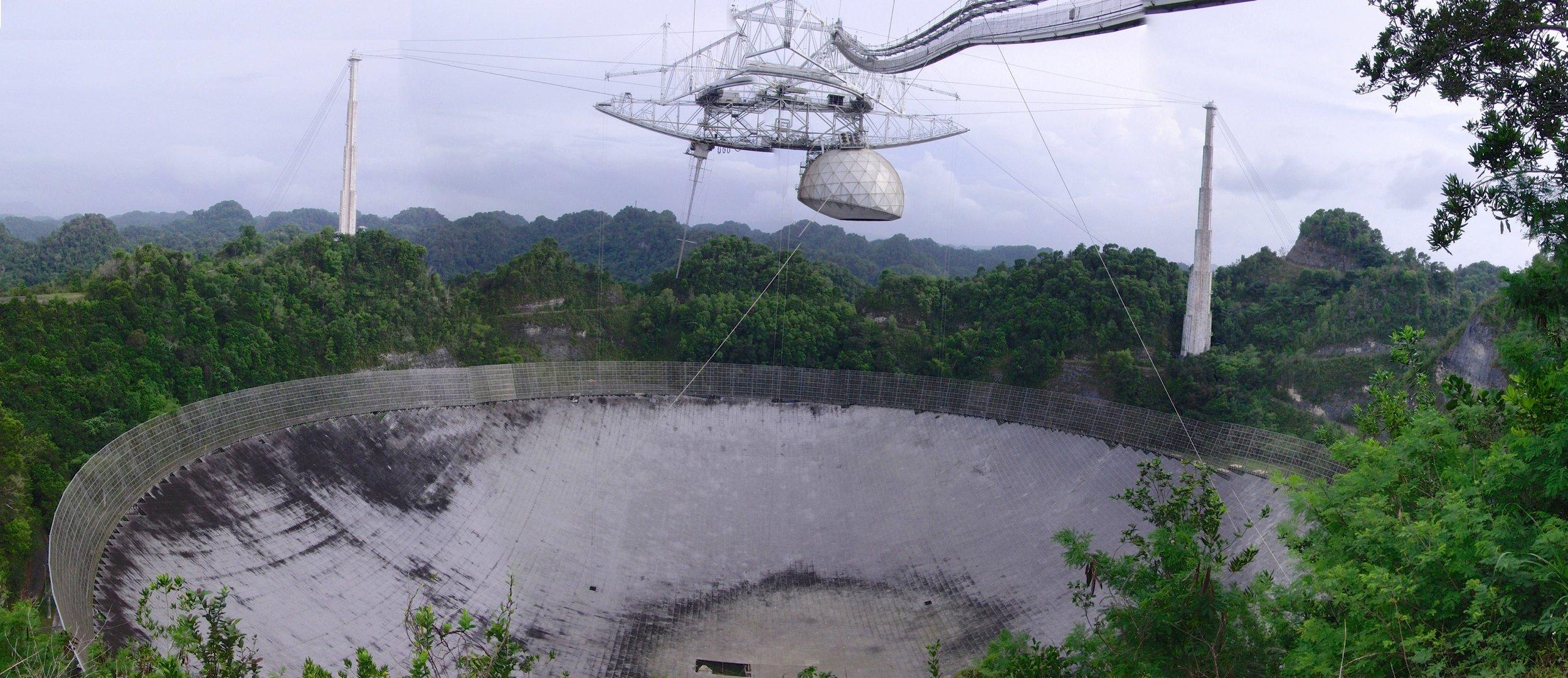 Arecibo radio telescope in Puerto Rico