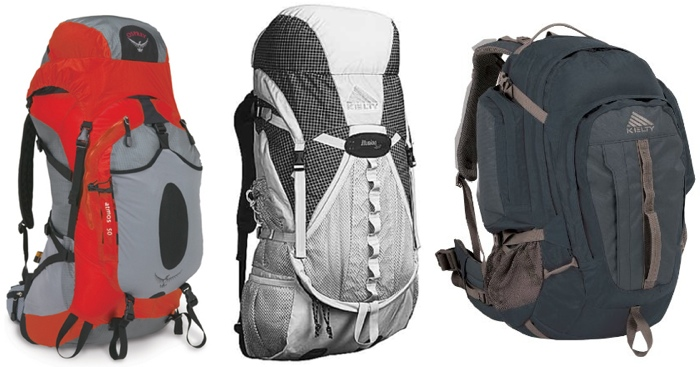Osprey Atmos 50, Kelty Illusion 3500 and Kelty Redwing 50