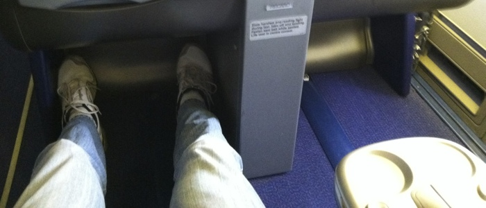 I enjoy my legroom in Business class!