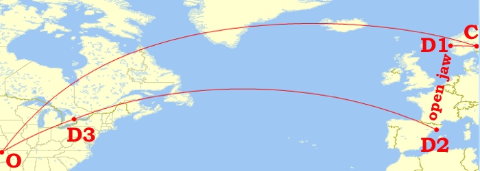 New plan: instead of Rome and Barcelona, stops in Barcelona and Toronto