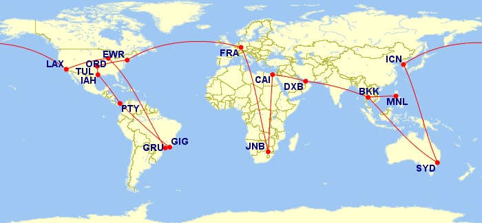 My masterpiece - the round-the-world itinerary