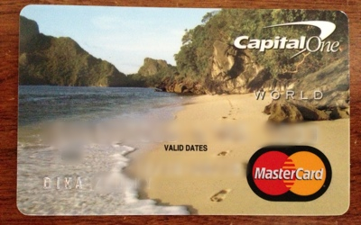 Capital ONE card with Ipil Beach