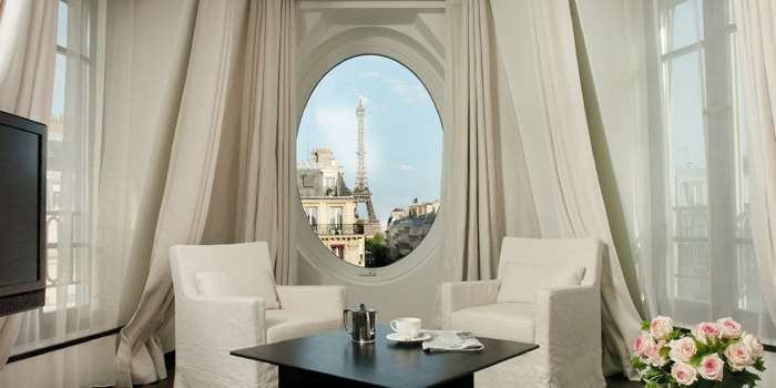 "Two nights at Radisson Blu Le Metropolitan - 16th century building, rated one of ""World's Top 25 Hotels with a View"", 10 minute walk from both the Eiffel Tower and Arc de Triomphe (photo from Radisson Blu)"