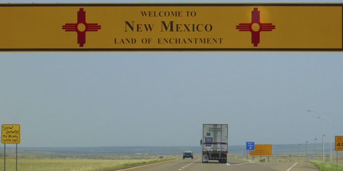 Entering New Mexico - the Land of Enchantment