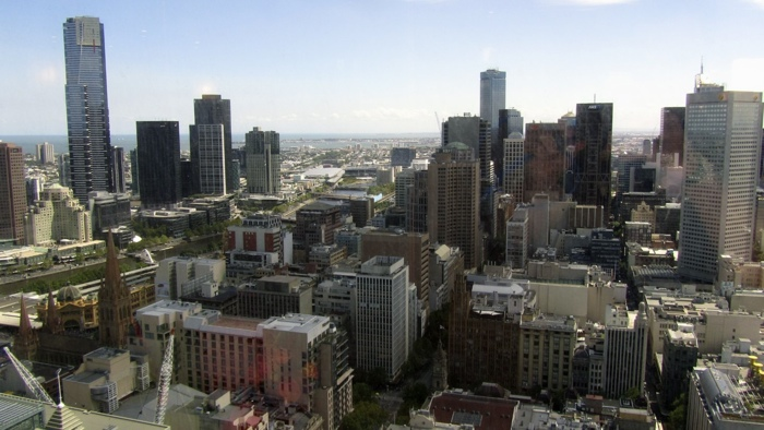 Downtown Melbourne from one of Regus offices