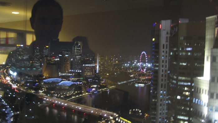 Singapore at night from Regus UOB Plaza