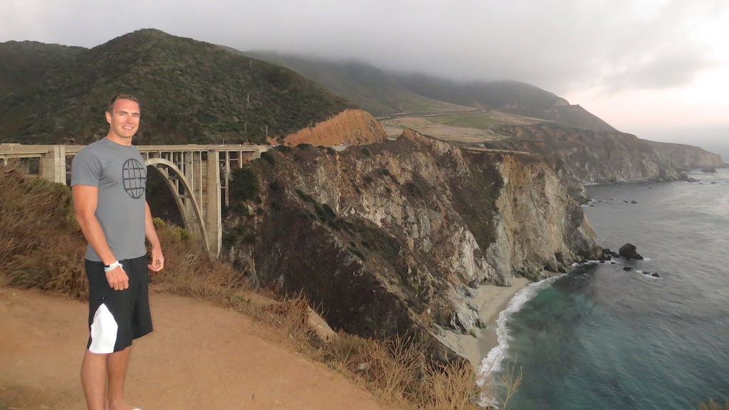 Bixby Creek Bridge  - one of the most photographed places along the drive. Not with this weather thou.