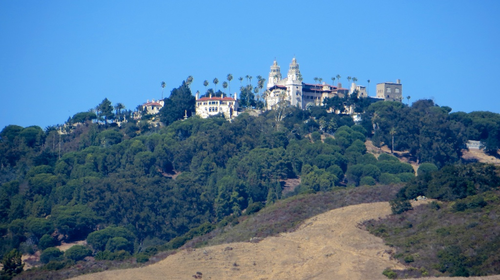 Hearst Castle above San Simeon bay