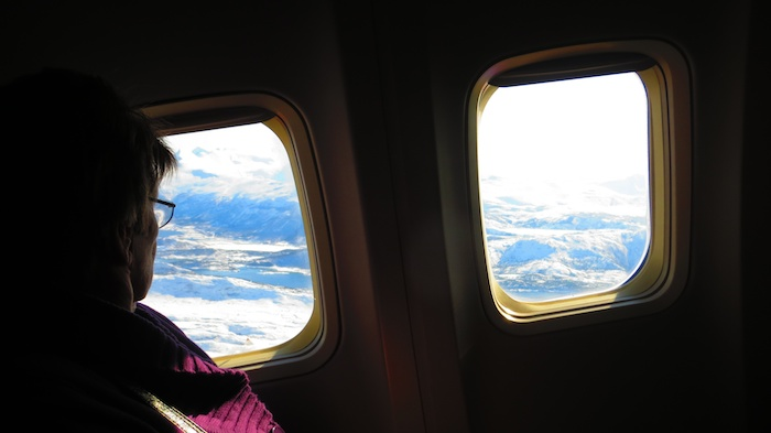 No window seat on the flight to Trondheim -(