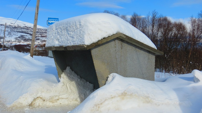 With so much snow to hold, no wonder most bus stops are pure concrete boxes