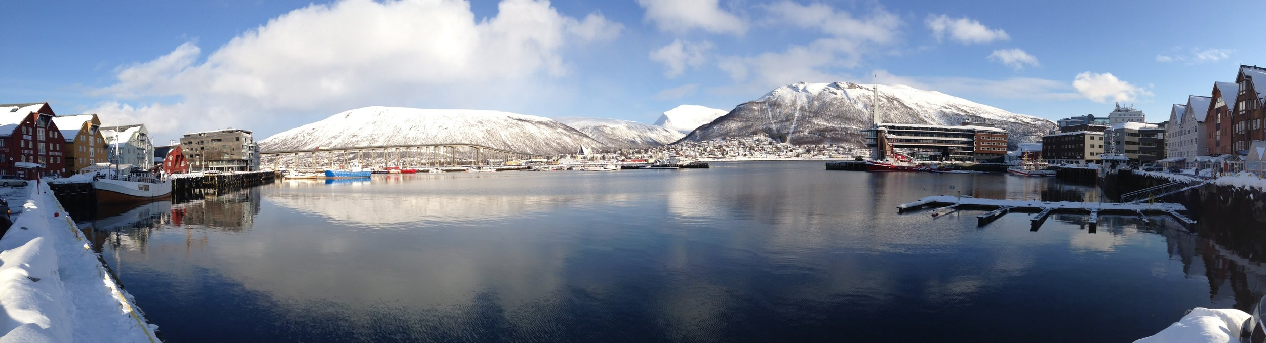Tromso harbor way above the Arctic circle.