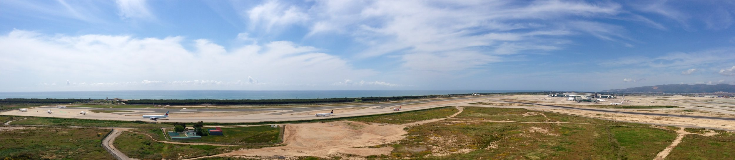 Panoramic view of Barcelona El Prat airport