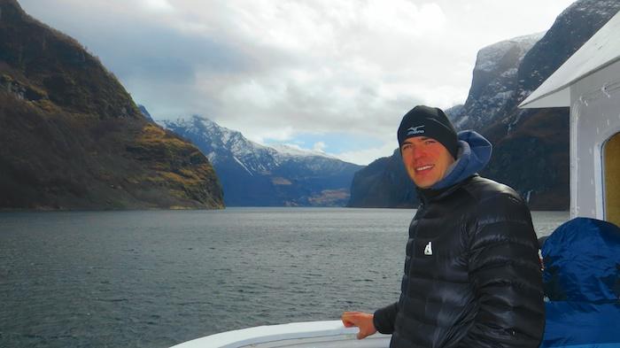 Cruising down Nærøyfjord