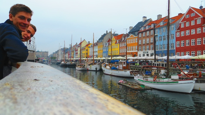 Checking out Nyhavn, Copenhagen's old port, with August