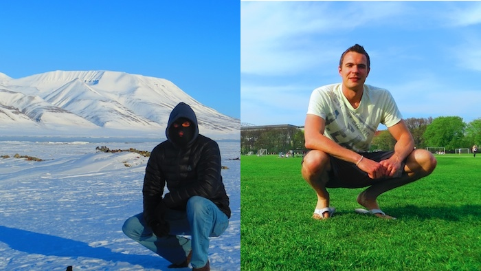 What a difference three weeks made - from freezing cold Longyearbyen to sunny Copenhagen