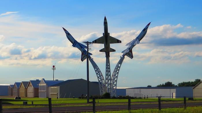 A Thunderbird memorial