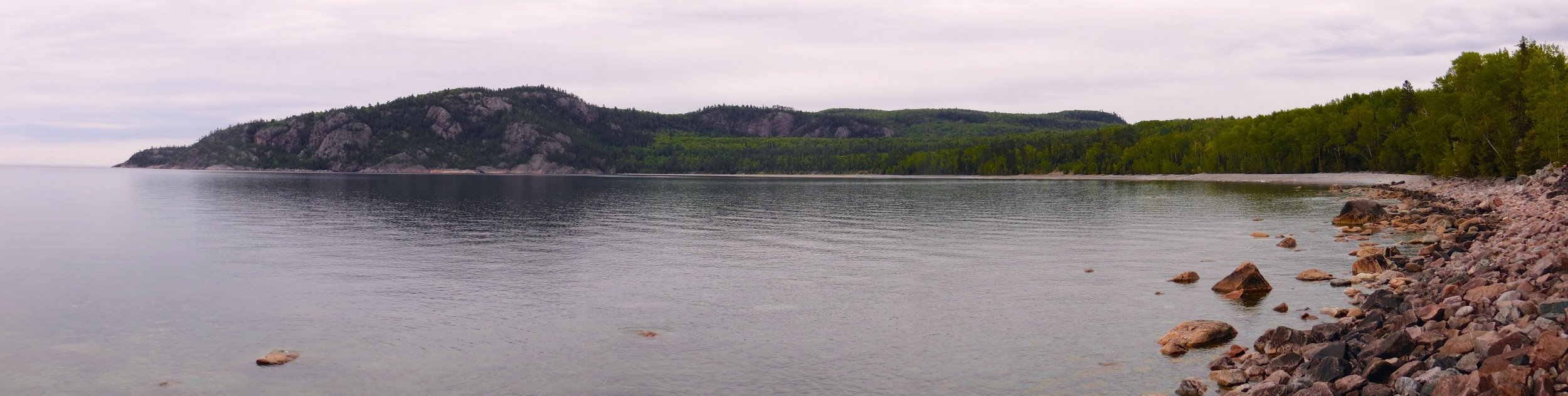 Peaceful and tranquil Alona Bay in Ontario panorama