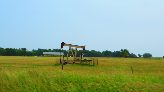 The fields of... oil wells in Oklahoma