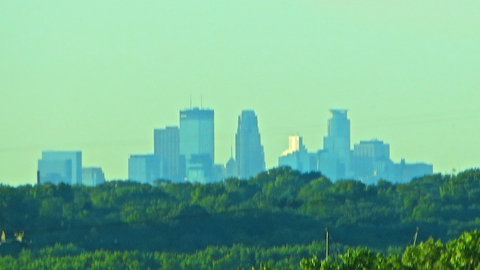 Minneapolis skyline in the distance