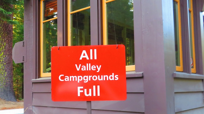 Yosemite campground Bummer