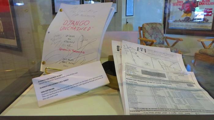 A copy of Django script at Lone Pine Film Museum at Lone Pine Film Museum
