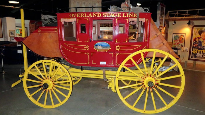 1800s stage coach at Lone Pine Film Museum