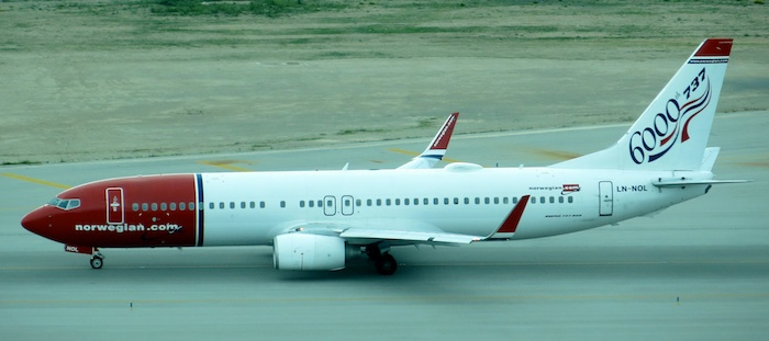 Norwegian 737 - the 6000th 737 built
