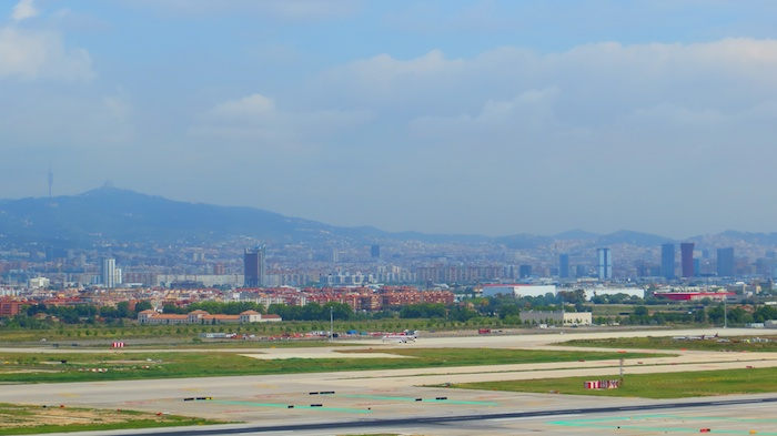 Barcelona from air traffic control tower