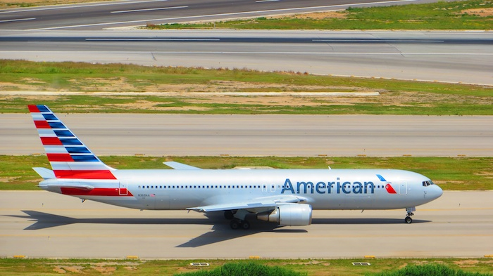 American Boeing 767 in new livery