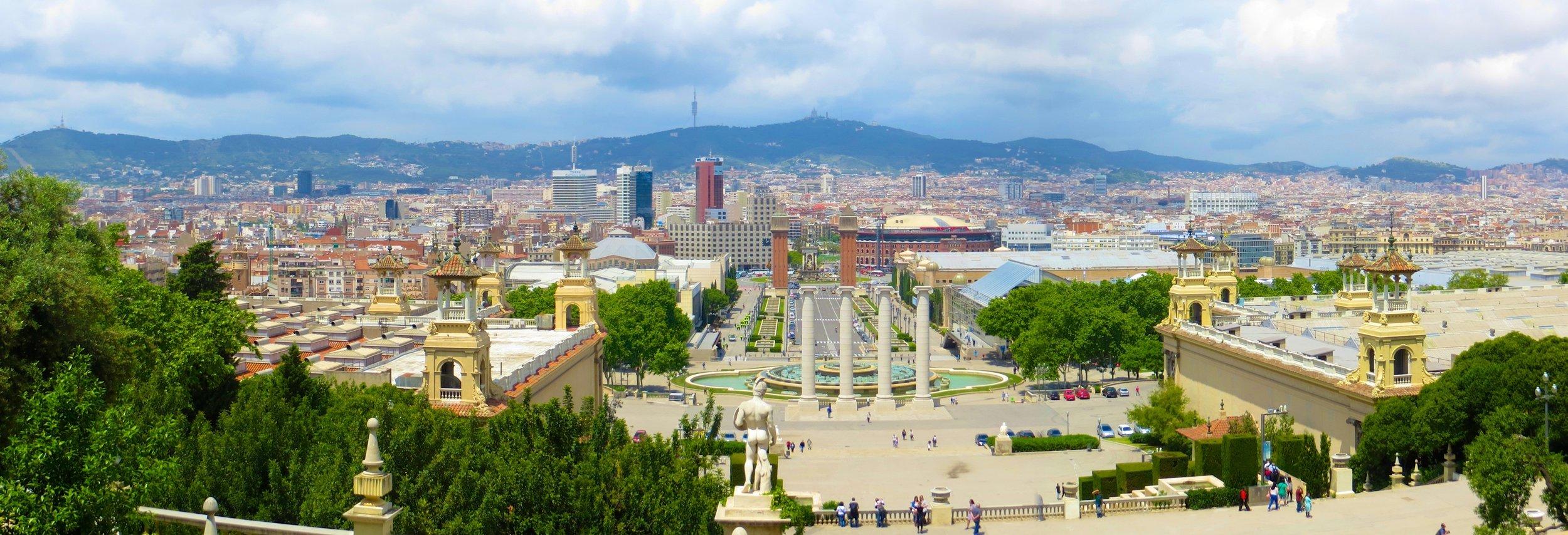 Barcelona Plaza Espana panorama