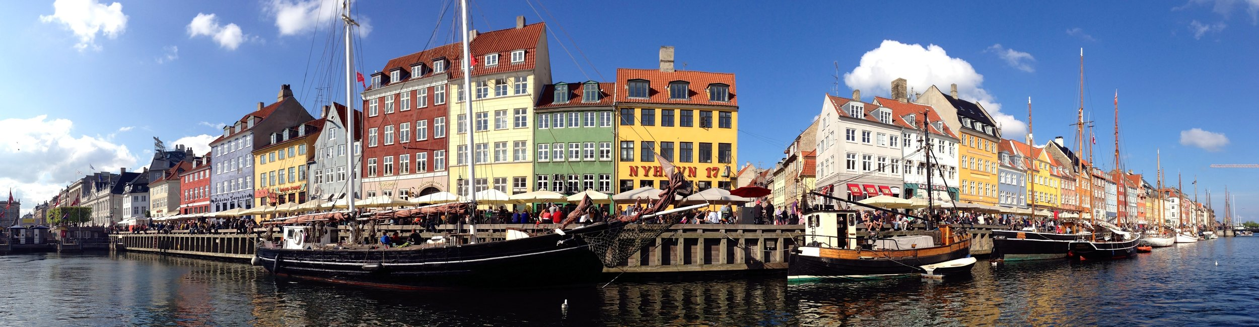 Copenhagen Nyhavn new harbor panorama