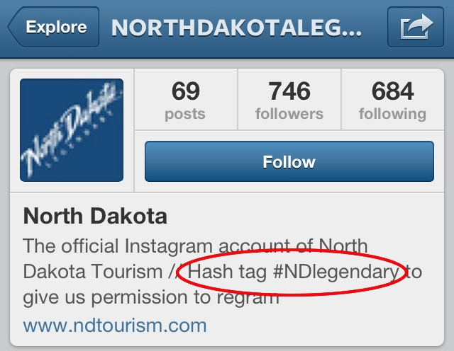 North Dakota NDLegendary hashtag