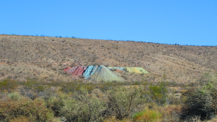 On the way to Sin City - interestingly colored hills