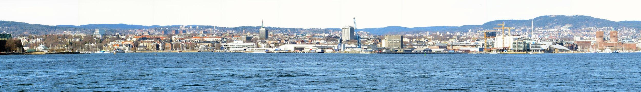 Oslo harbor panorama
