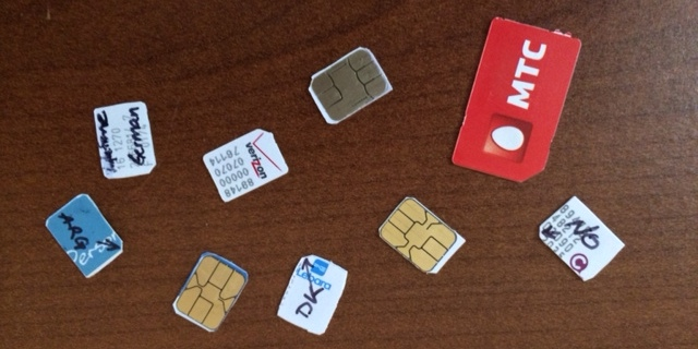 sim cards from around the world cut for the iphone