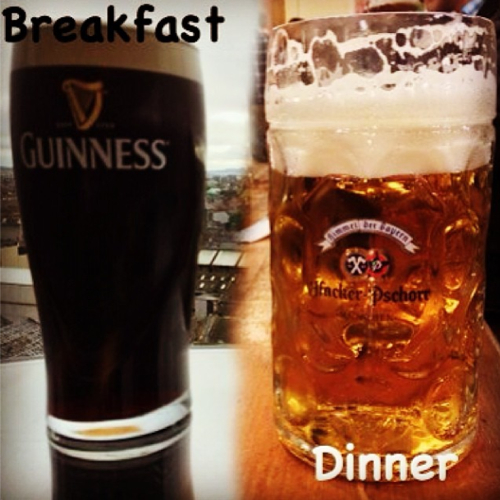 Euro beer run - Guinness in Dublin for breakfast and Oktoberfest for dinner