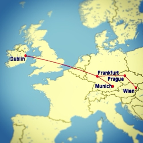 Euro beer run flight map