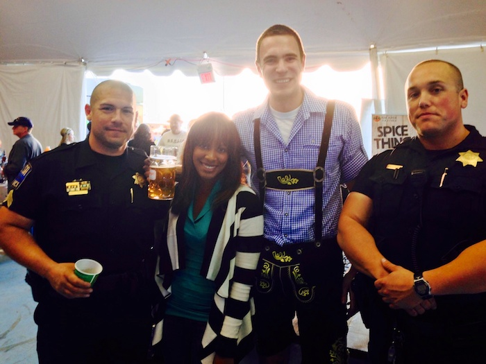 Getting into trouble with security at Tulsa Oktoberfest