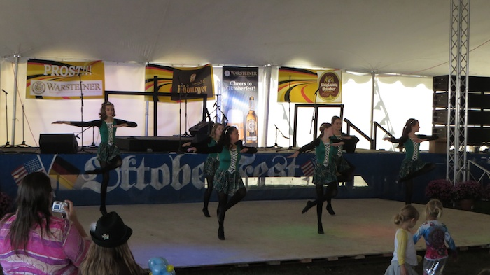 Irish Danses from Broken Arrow dance academy at Tulsa Oktoberfest