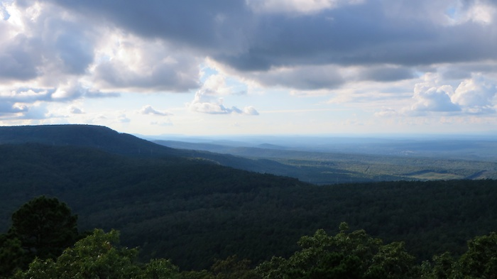 More mountains to the west of Mt. Nebo in western Arkansas from Mt. Nebo state park