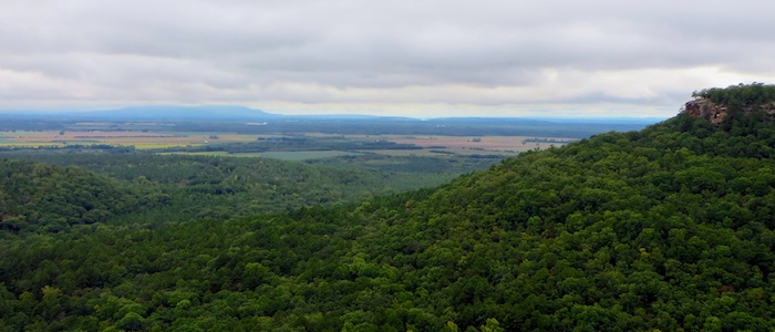 Overlooking Arkansas River Valley from Petit Jean State Park