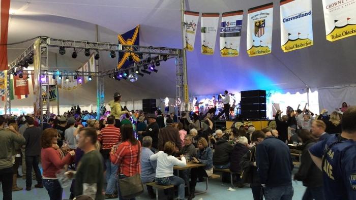 Oklahoma Tulsa Oktoberfest Chicken Dance Lufthansa Tent