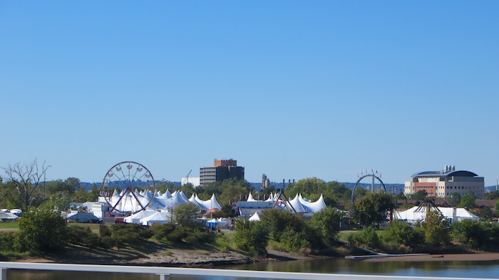 Tulsa Oktoberfest Grounds Oklahoma Wiesn Arkansas river