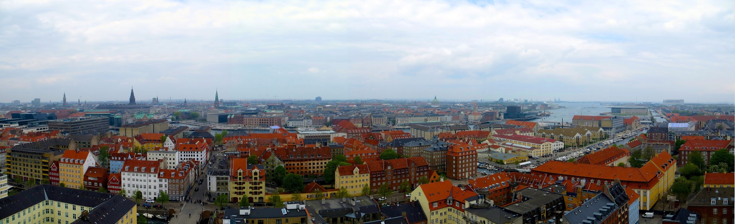 Copenhagen panorama from Vor Frelsers Kirke