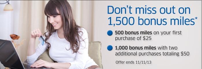 MilesPlus shopping portal bonus