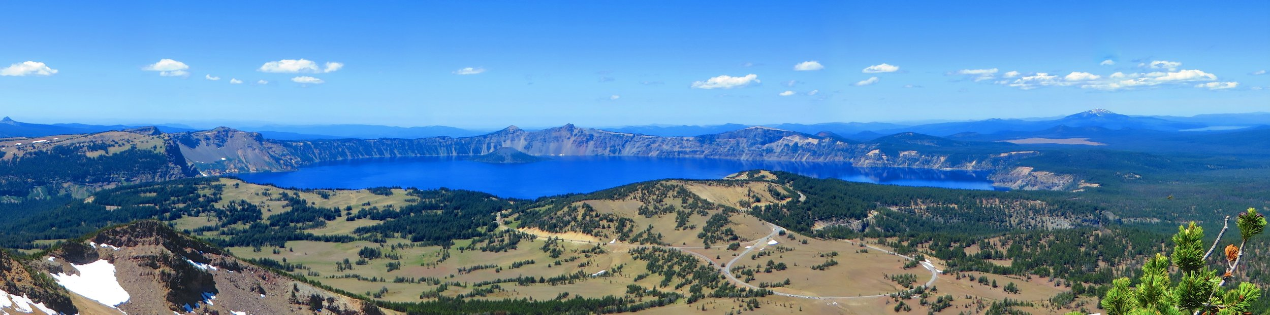Crater Lake Oregon national park panorama mt scott