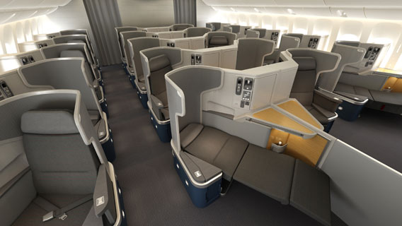 American Airlines new business class product on 777-300ER routes