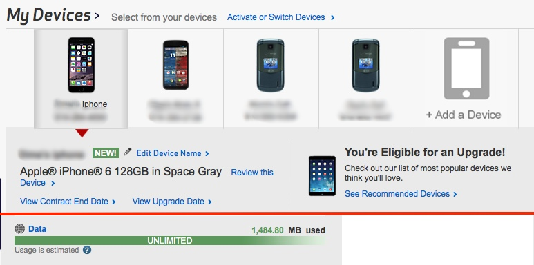 upgrade verizon iphone 5s to iPhone 6 plus + keep unlimited data - end goal