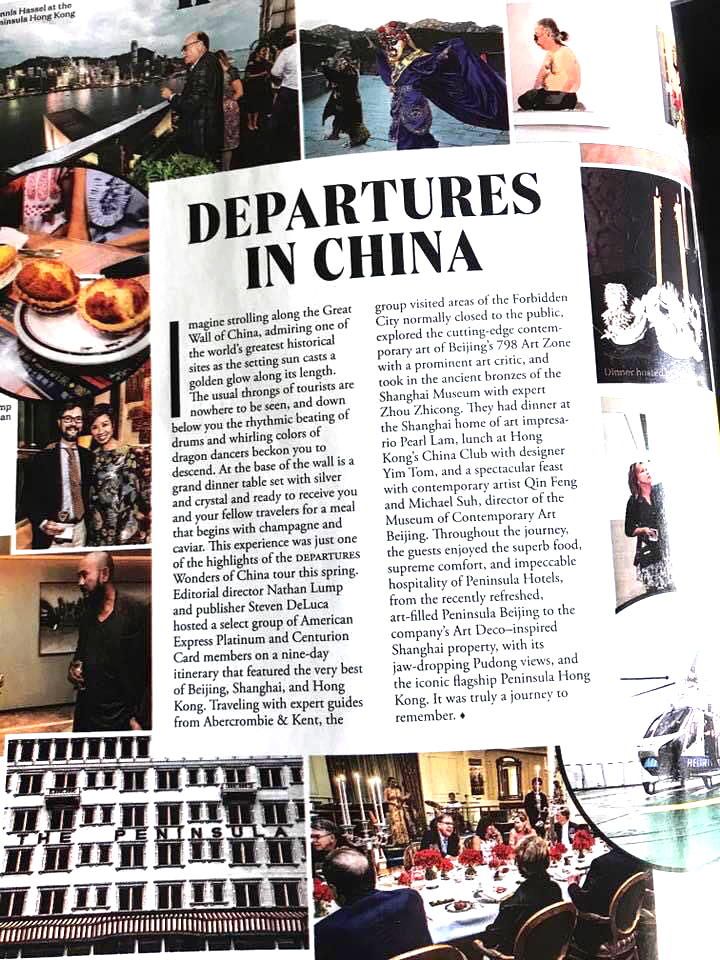 September issue of Departures magazine